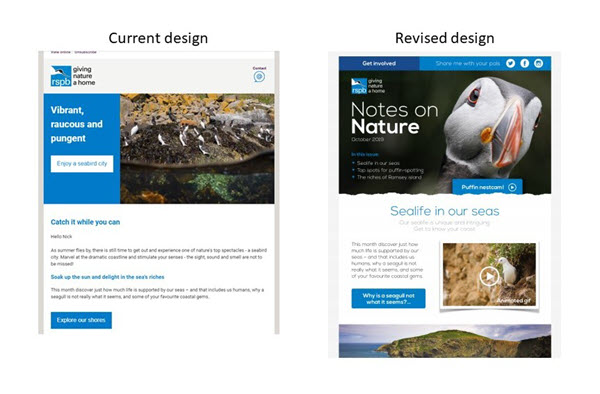 Revised RSPB design approach